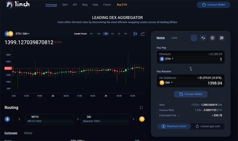 1inch-crypto-exchange-platform