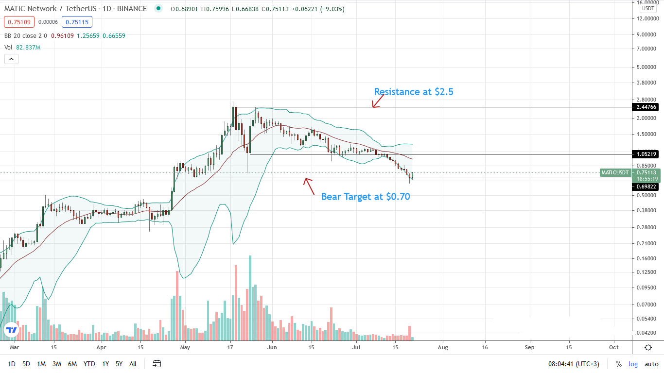 MATIC Price Daily Chart for July 21
