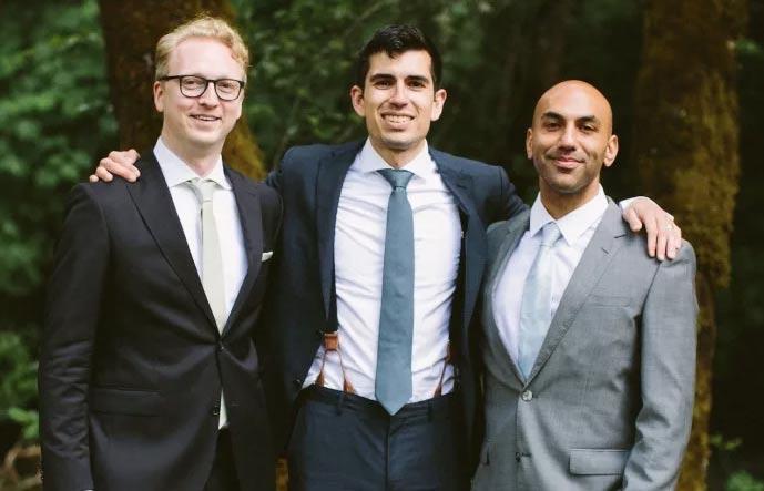 The Graph co-founders left to right: Jannis Pohlmann, Brandon Ramirez, Yaniv Tal