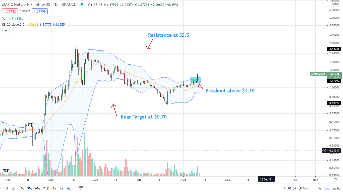 Polygon Price Daily Chart for Aug 12